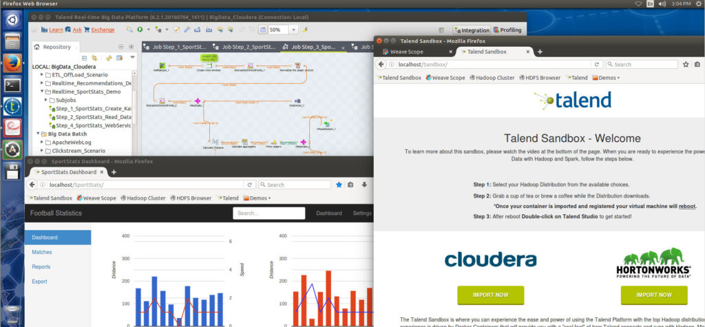 Talend's Big Data Sandbox can be used for free.